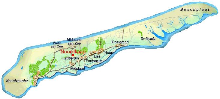 kaart nl waddeneilanden